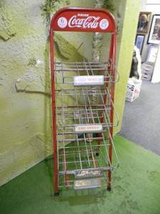 Vintage Coca~Cola Display Stand Rack, Complete! - 6 Bottle 25 Cent Carton Drink Coca~Cola Sign, Serve Yourself - GREAT ORIGINAL PIECE! - SEE PICTURES!
