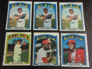 1972 Topps Hall of Fame Star Lot | 6 Cards