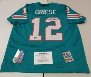 Bob Griese Custom Jersey Autograph with 2 Vintage Cards Tristar COA