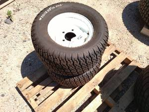 (2) Carlisle 20x12.00x10 Tires on 5...