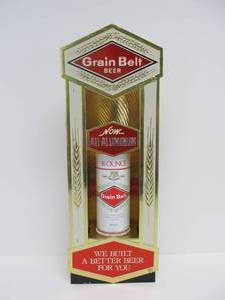 NOS Vintage GRAIN BELT Premium Beer Advertising Can Display