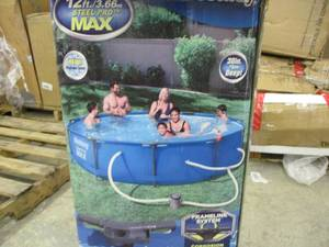 BestWay 12 ft Steel Pro max Pool; h...