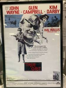 "Framed True Grit John Wayne Movie Poster 28 1/2"" x 41 1/2"""