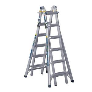 Werner 26 ft. Reach Aluminum 5-in-1 Multi-Position Pro Ladder with Powerlite Rails 375 lbs. Load Capacity Type IAA Duty Rating MT-26IAA