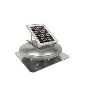 Master Flow 500 CFM Solar Powered Roof Mount Attic Fan ERVSOLAR