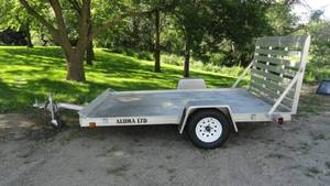 Aluma LTD Utility Trailer 6' x 10 W/Ramp