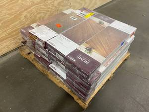 HOME DECORATORS COLLECTION Lot of 15 boxes Strand Woven Harvest 3/8 in. T x 4.92 in. W x 36.02 in. L Engineered Click Bamboo Flooring