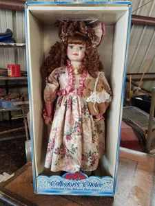 Collector's Choice Genuine Fine Bisque Porcelain Doll in Original Box