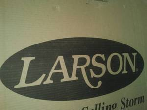 Larson Storm Door. NEW IN BOX $245 retail across the street.
