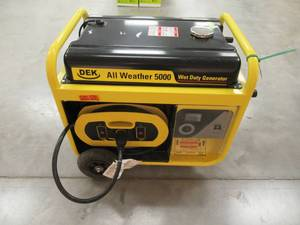 Beast 5000-Watt, 6600 Surge Watt All-Weather Gas Powered Portable Generator, Removable Control Panel and 15ft. Heavy Duty Cord G5000BM17