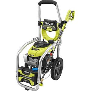 RYOBI 3300 PSI 2.3 GPM Cold Water Gas Pressure Washer with Honda GCV190 Idle Down in lile new conditions