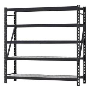 Husky 90 in. W x 90 in. H x 24 in. D 5-Shelf Welded Steel Garage Storage Shelving Unit with Wire Deck in Black IN GOOD CONDITIONS