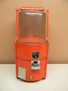 VINTAGE - VERY RARE!!!!! - VEND-IT SUPPLY CO. 1 CENT MACHINE NORTHWESTERN MORRIS, ILLINOIS - VERY COOL! - SEE PICTURES!