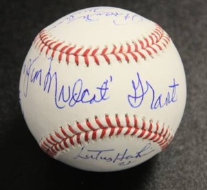 Official Rawlings Ball with 4 Autograph | Jim Mudcat Grant Sweet Spot