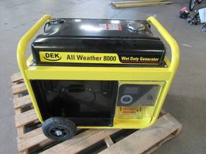 Stanley 8,000-Watt Gasoline Powered Storm Portable Generator with Electric Start and Removable Generator Panel G8000S