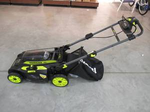 Ryobi 20 in. 40-Volt Brushless Lithium-Ion Cordless Self-Propelled Walk Behind Mower with 2 6.0 Ah Batteries, Charger Included RY401120-2B