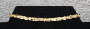 Gorgeous 14k Yellow Gold Nugget Link Bracelet