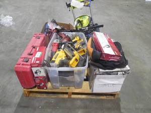 WHOLESALE PALLET LOT OF TOOLS