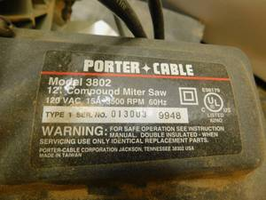 "Porter-Cable 3802 12"" Compound Miter Saw with Twin Laser"