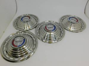 "1963 Red/White/Blue Ford Galaxy 500 14"" Hubcaps"