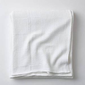 Large King Basketweave Blanket - White, 85023-K-WHITE - NEW!