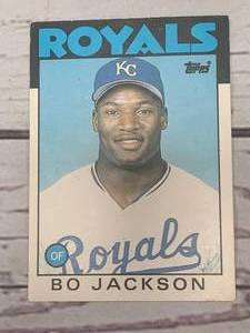 1986 Topps Traded Tiffany Bo Jackson Rookie (Mint 9.5 sold for $1799)