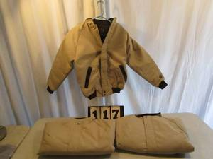 Wiman Tan Jacket/Coat with Quilted Lining - Small