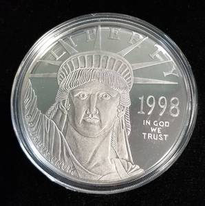 4 TROY OZ .999 FINE SILVER 1998 STATUE OF LIBERTY IN AIRTITE