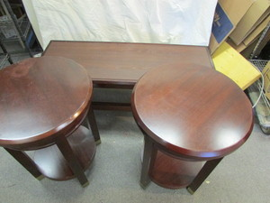 Coffee Table/2 Round End Tables