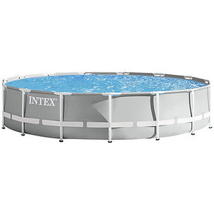 "Intex Prism 15' x 42"" Round Metal-Frame Pool Set"