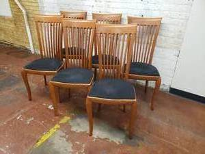 A. Siban Dining Chairs, set of 6