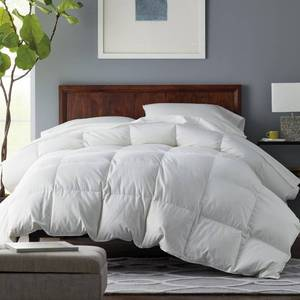 Alberta Medium Warmth White Euro Down Comforter - King, C2Y2-K-WHITE - NEW!