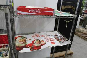 Coca-Cola Wood Bottle Crate Tray, Things Go Better With Coke Paper Posters