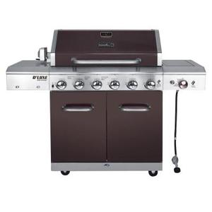 Nexgrill Deluxe 6-Burner Propane Gas Grill in Mocha with Ceramic Searing Side Burner in good conditions