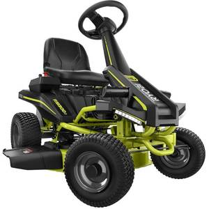 RYOBI 30 in. 50 Ah Battery Electric Rear Engine Riding Mower not used