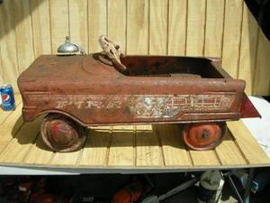 Vintage Murray Fire Truck Pedal Car