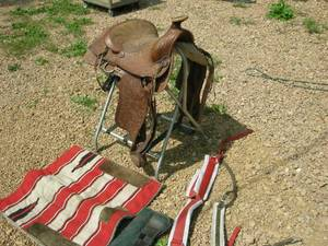 Leather Horse Saddle and Tack