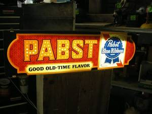 Vintage Pabst Blue Ribbon Beer Light
