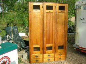 Antique Wooden Lockers