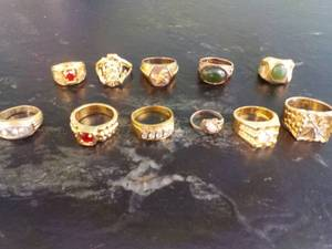Costume Jewelry Rings...
