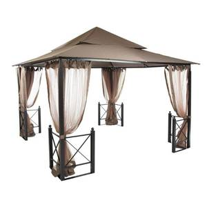 Hampton Bay 12 ft. x 12 ft. Harbor Gazebo, GFS01250A. - Might be missing parts.