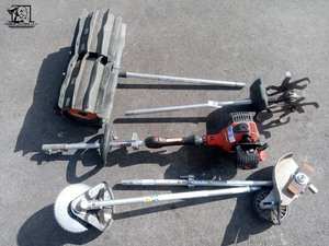 Working 25.4cc Gas 2-Stroke Cycle PAS Power Head With 4 Attachments (ProPaddle, Cultivator, Brush Blade, Shaft Edger) ($1,000 value)
