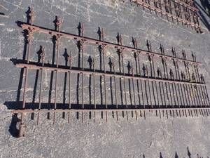 Antique Vintage Ornate Wrought Iron Fence