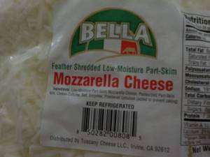 5 lb. Bag Refrigerated Bag Mozzarel...