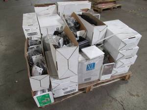 WHOLESALE MIXED PALLET OF MISCELLANEOUS DECKING COLLARS, CAPS, BRACKETS, HARDWARE AND MORE!