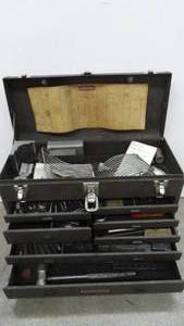 Craftsman Machinist Tool Box With Misc. Tools & Tooling
