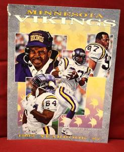 Minnesota Vikings 1992 Year Book Original Vintage