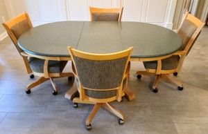 Granite/Stone Topped Maple Table and Chairs Set