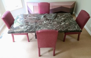 Magnificent Marble Dining Table And Chairs