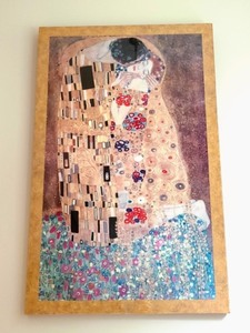 "Large Framed ""The Kiss"" Print By Gustav Klimt"
